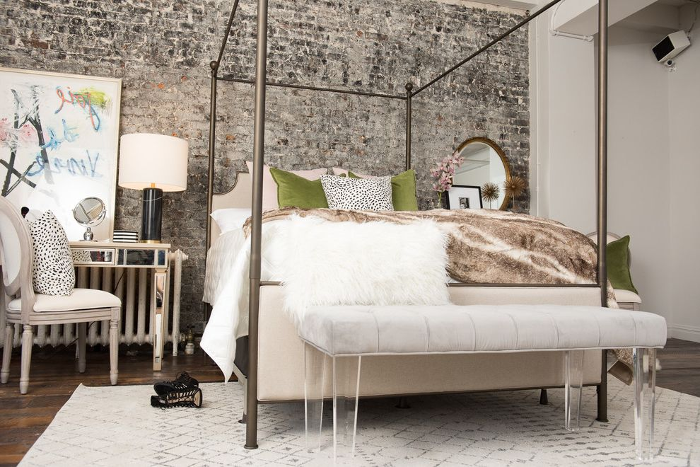 Stearns and Foster Scarborough   Eclectic Bedroom Also Bed Bedding Bedroom Edgy Glam Handcrafted Jonathan Scott Mattress