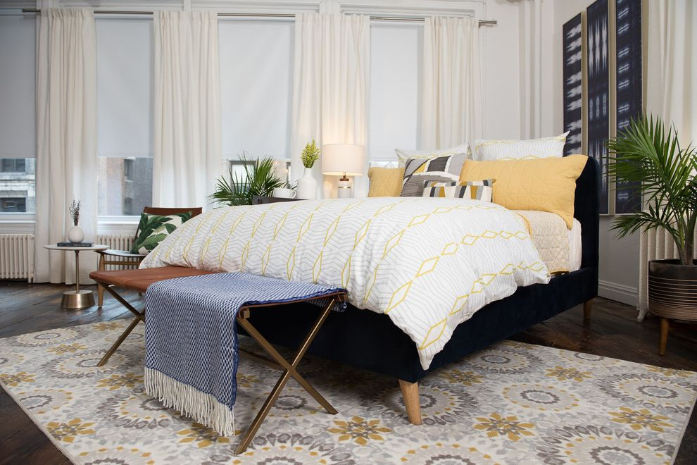 Stearns and Foster Scarborough   Midcentury Bedroom Also Bed Bedding Bedroom Jonathan Scott Mattress Mid Century Modern