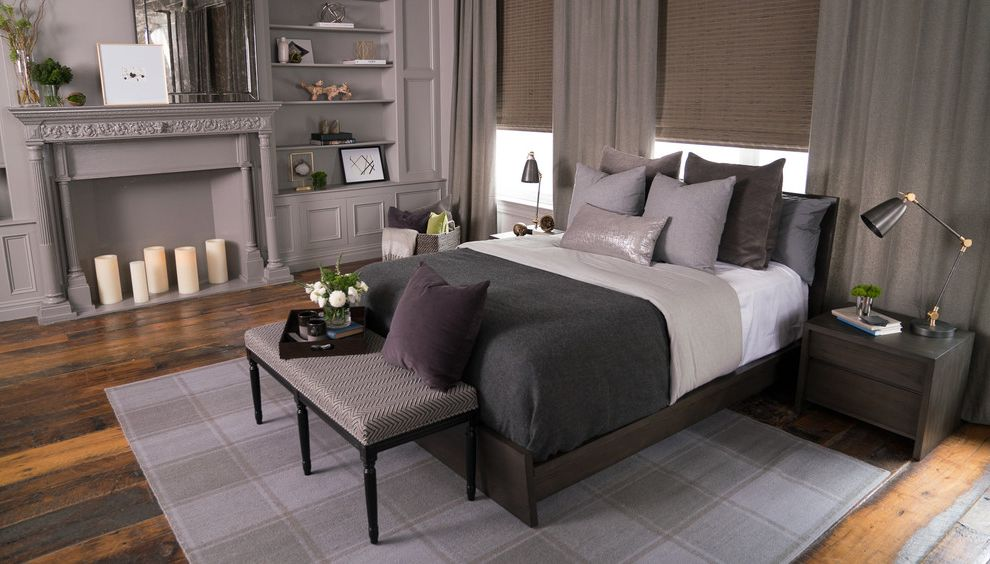 Stearns and Foster Scarborough   Transitional Bedroom  and Bed Bedding Bedroom Jonathan Scott Mattress Transitional