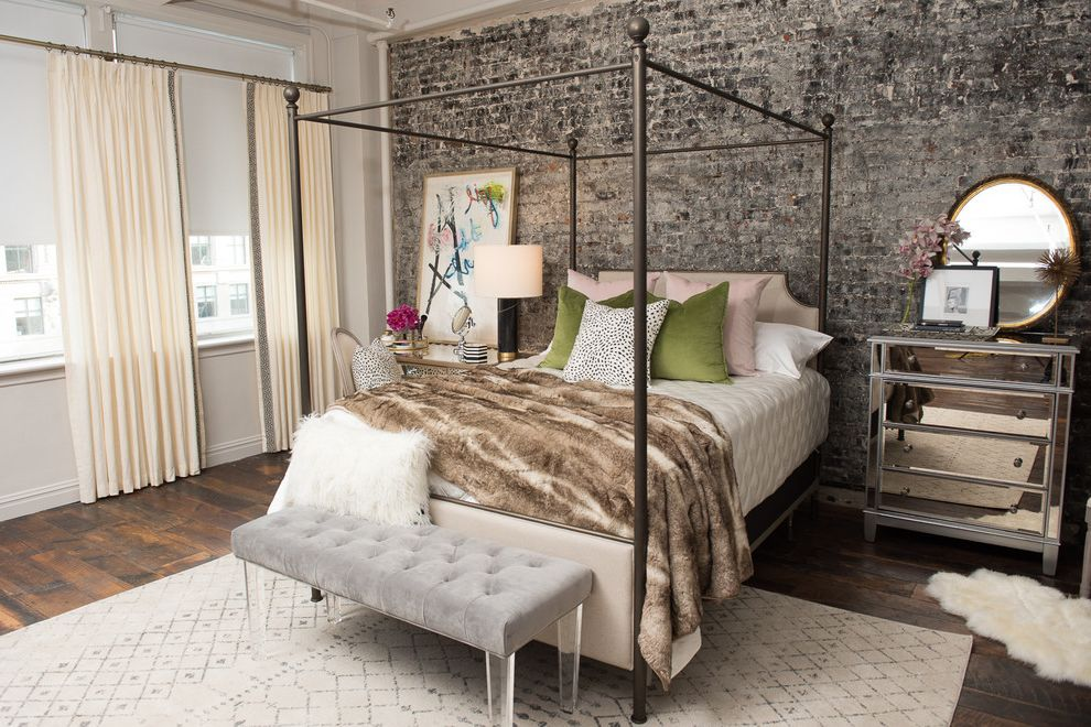 Stearns and Foster Scarborough with Eclectic Bedroom Also Bed Bedding Bedroom Edgy Glam Handcrafted Jonathan Scott Mattress