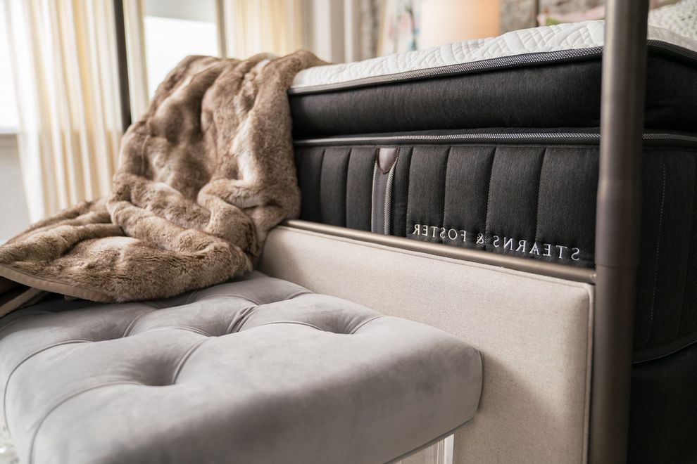 Stearns and Foster Scarborough with Eclectic Bedroom  and Bed Bedding Bedroom Edgy Glam Handcrafted Jonathan Scott Mattress