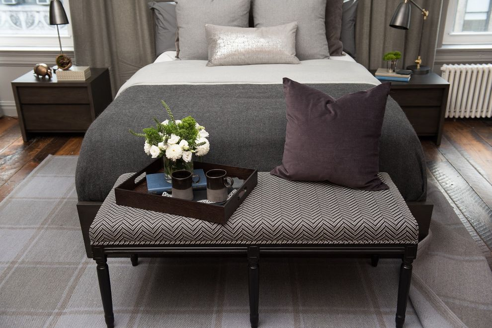 Stearns and Foster Scarborough with Transitional Bedroom  and Bed Bedding Bedroom Jonathan Scott Mattress Transitional