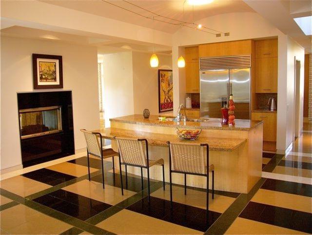 Ada Counter Height   Contemporary Kitchen Also Fireplace Island Kitchen Silestone Silestone Flooring Stainless Stainless Appliances