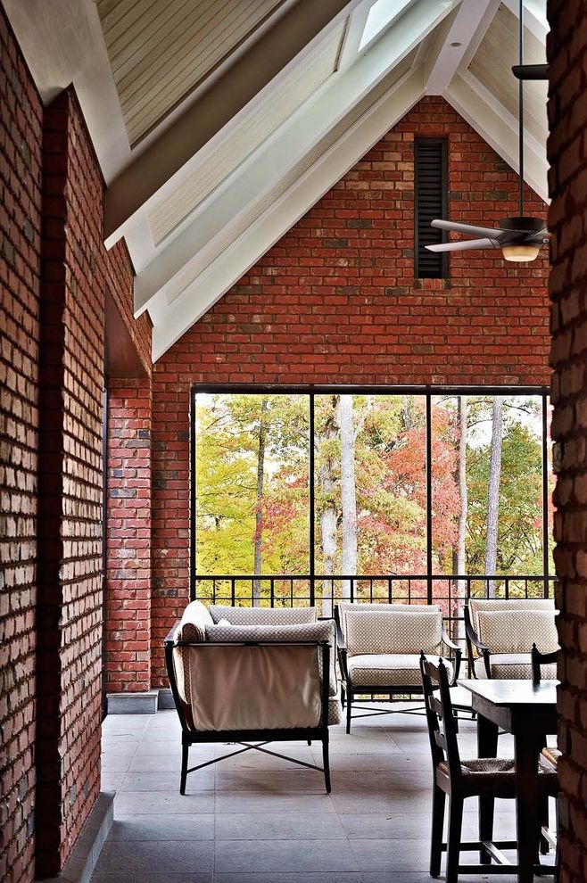Ambiente Raleigh   Contemporary Patio  and Brick Brick and Stone Bricks Facade Interior Brick Outdoor Rooms Patio