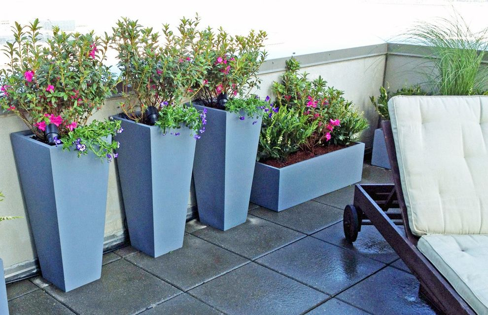 $keyword Nyc Roof Garden, Terrace Deck, Pavers, Container Plants, Fiberglass Pots $style In $location