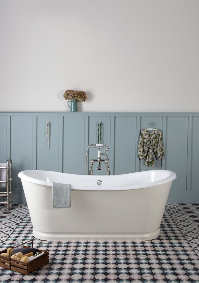 Bath Fitters Reviews with Farmhouse Bathroom  and Bath Caddy Bathroom Floor Tile Blue and Grey Freestanding Bath Patterned Floor Tile Rolltop Bath Spa Bath Wall Panelling