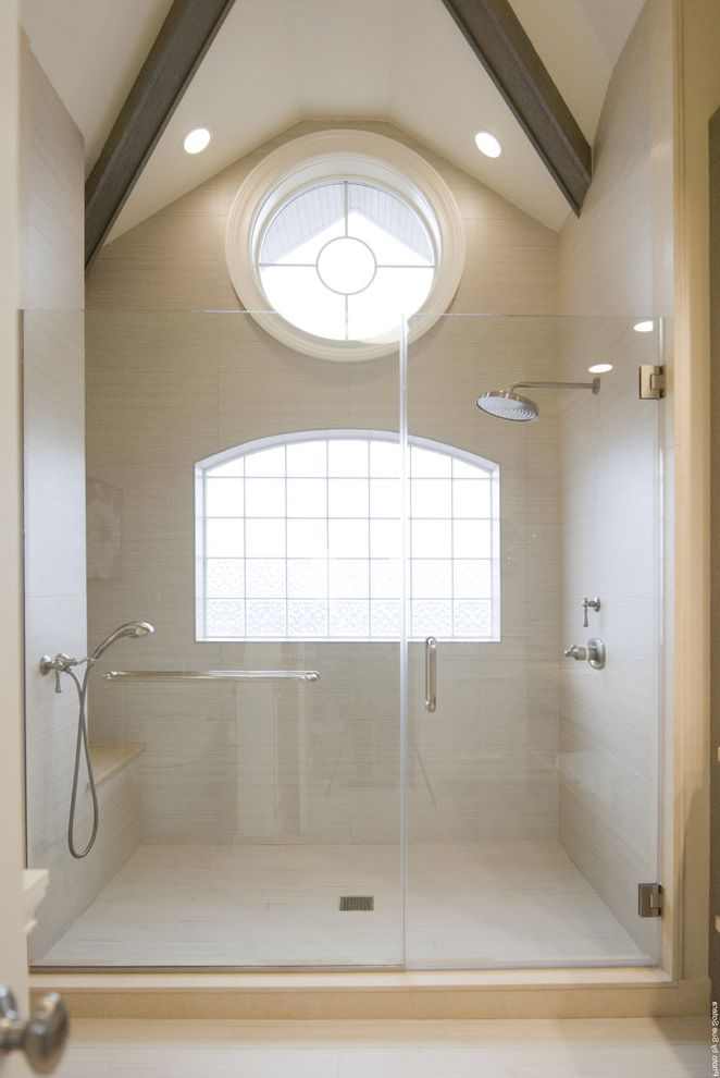 Best Way to Clean Car Windows   Contemporary Bathroom Also Ceiling Lighting Double Shower Head Exposed Beams Glass Blocks Monochromatic Neutral Colors Rain Shower Head Recessed Lighting Shower Room Shower Seat Sloped Ceiling Vaulted Ceiling