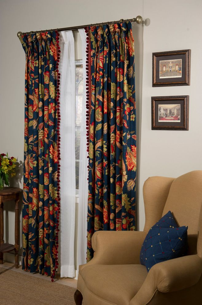 Budgetblinds with  Family Room  and Bathroom Chair Curtains Dining Room Draperies Drapery Drapes Family Room Kitchen Living Room Office Pleated Sheers Side Table Tan Wall Art