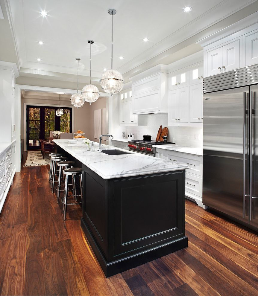 Caliber Home Loans Reviews with Transitional Kitchen Also Black and White Kitchen Counter Stools Kitchen Island Pendant Lighting Range Recessed Lighting Vent Hood Wood Floors