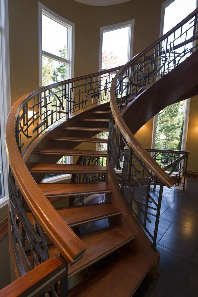 Capital Iron Works   Traditional Staircase Also Custom Iron Custom Ironwork Hand Made Iron Iron Railing Iron Staircase Ironwork Scrolls Stair Wrought Iron Wrought Iron Wrought Iron Staircase
