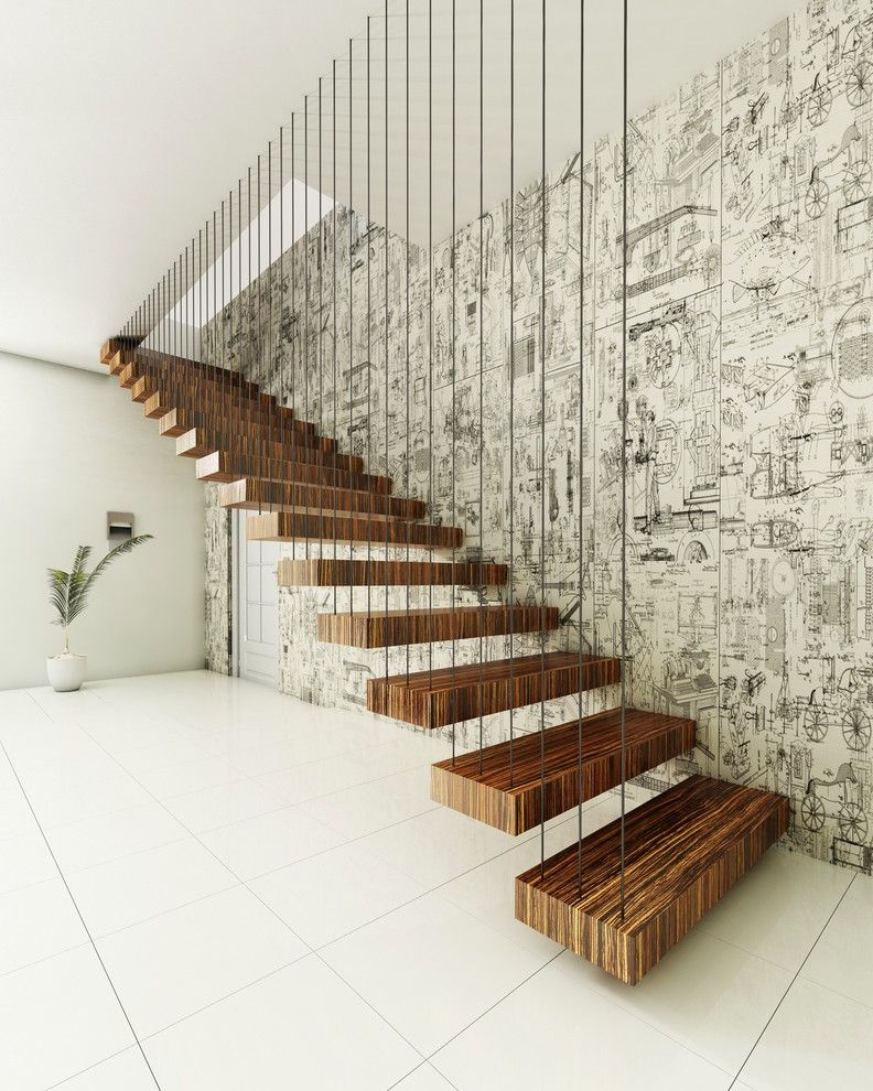 Floating Stairs Cost   Contemporary Staircase Also Black and White Wallpaper Contemporary Wallpaper Floating Stairs Floating Timber Stairs Indoor Plants Minimal Staircase Design Modern Stair Case