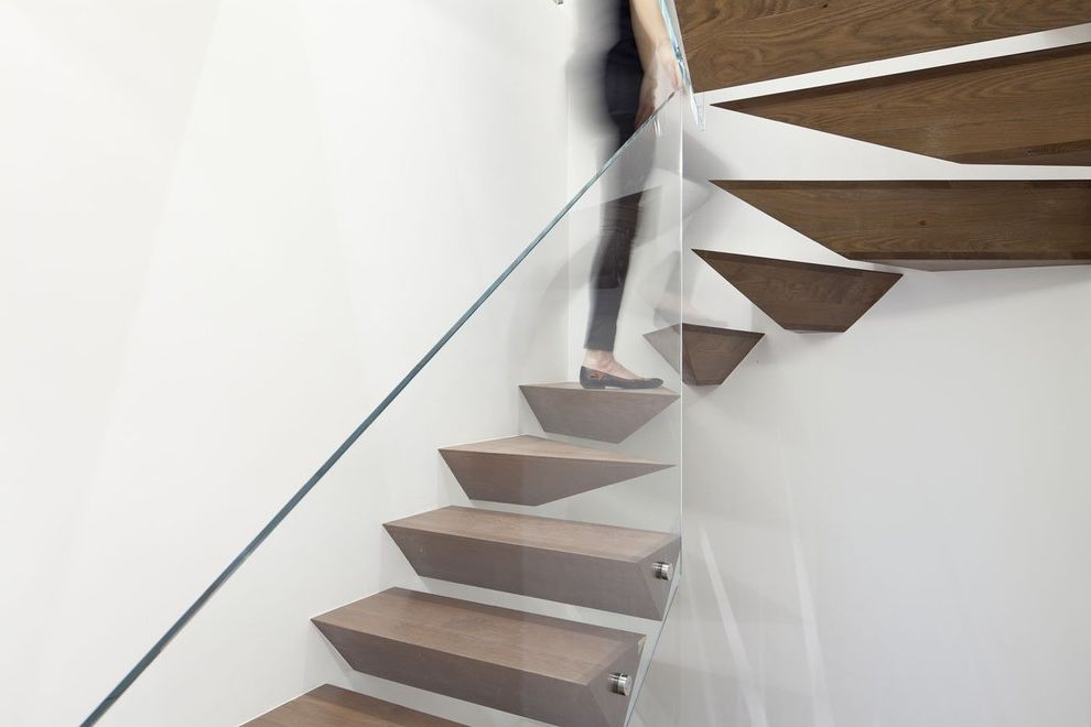 Floating Stairs Cost   Modern Staircase  and Curved Staircase Floating Staircase Floating Stairs Glass Railing Glass Stair Railing Minimalism Staircase Unique Staircase Wall Stairs White Wall