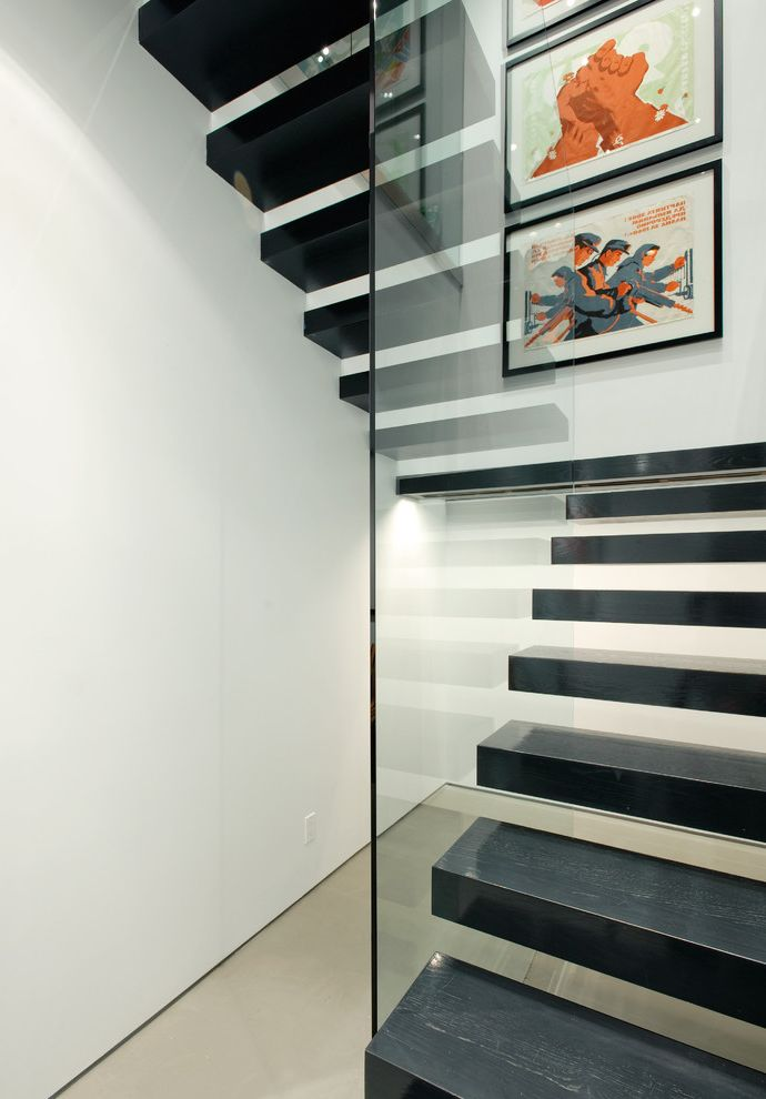 Floating Stairs Cost with Modern Staircase Also Floating Staircase Glass Guardrail Minimal Open Risers Staircase Lighting Wall Art Wall Decor