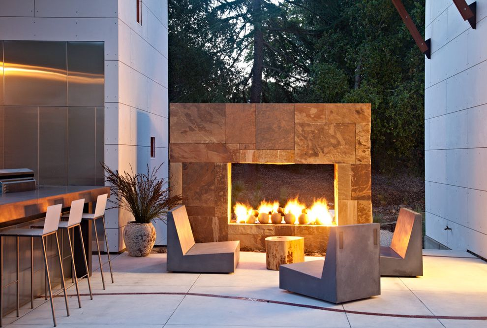 Furniture Stores Spokane with Modern Patio  and Barstools Concrete Furniture Grill Outdoor Fireplace Outdoor Furniture Rolling Furniture Tree Stump