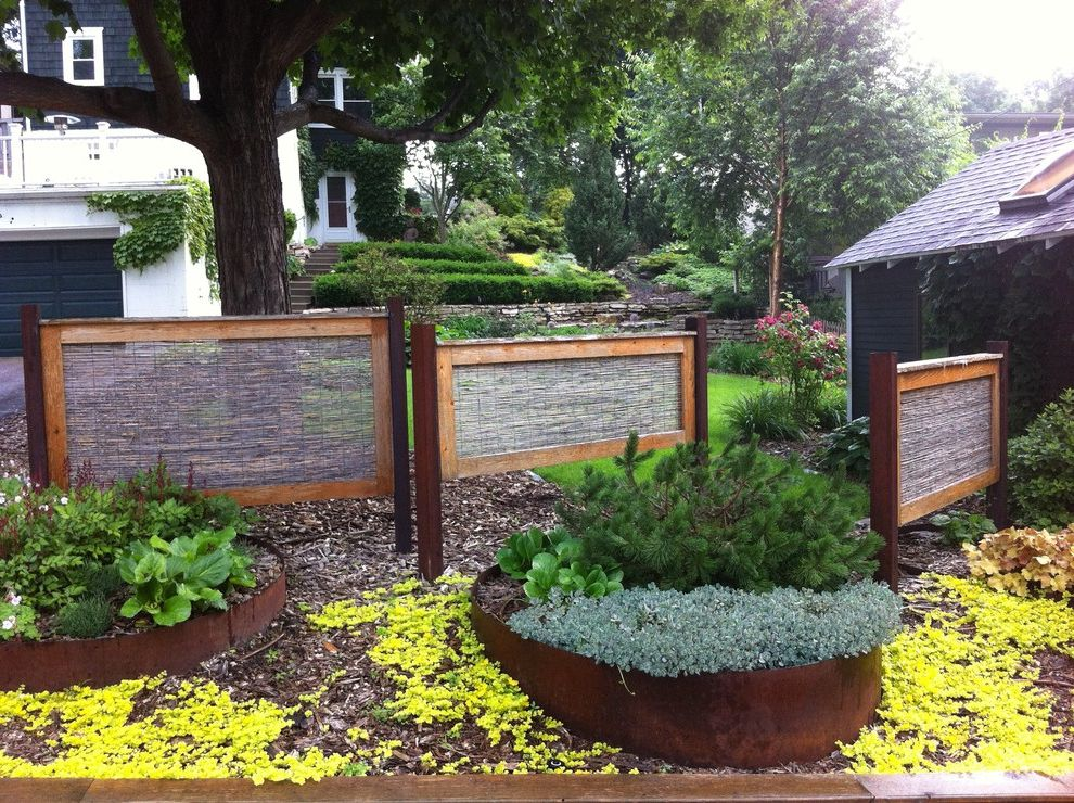 Home Depot Billings   Contemporary Landscape  and Alley Planting Bushes Flowers Metal Flower Beds Metal Planters Reed Screens Screens Shrubs Steel Planters Urban Oasis Yard Screens