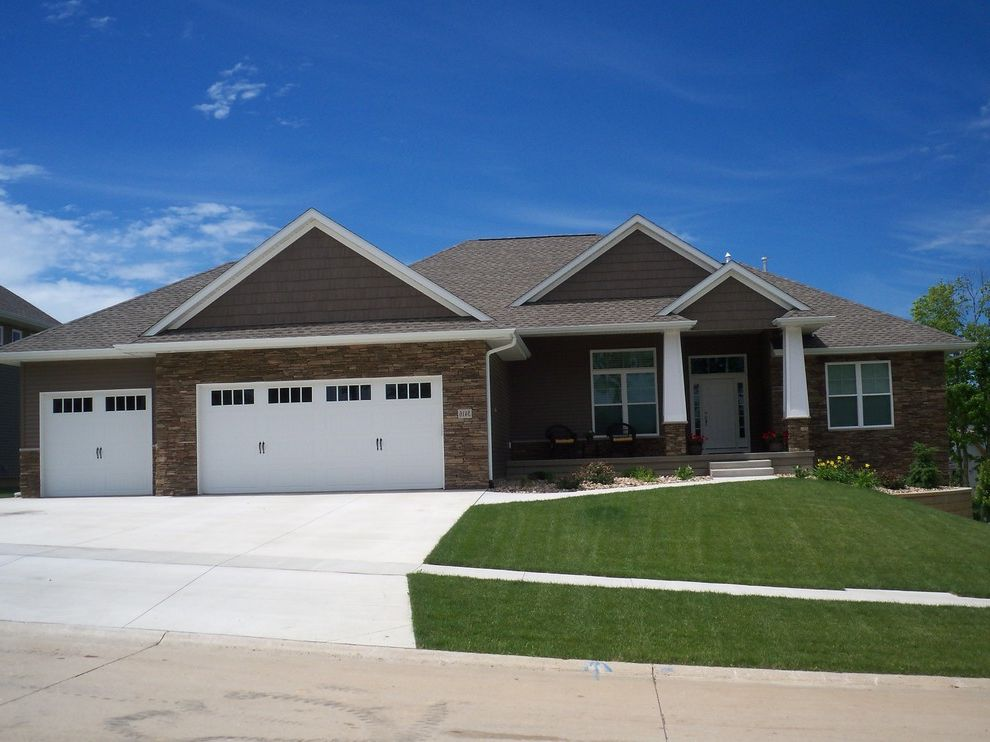 Home Depot Faux Wood Blinds with Traditional Exterior  and Accent Siding Front Lawn Front Porch Lawn Mixed Siding Stone Siding Wood Siding