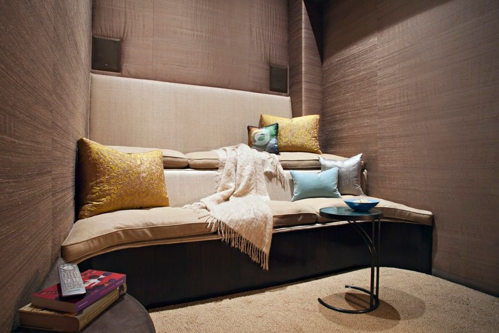 La Quinta Theater with Contemporary Home Theater Also Acoustics Interior Photograhy Living Room Photographer Small Home Theater Small Movie Theater Wallcovering