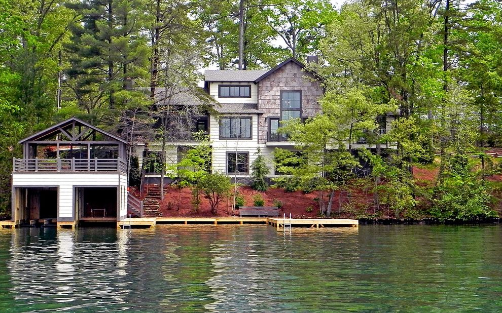 Lake Hartwell Lake Level with Rustic Exterior  and Boat House Burton Cottage Custom Dock Envision Evision Virtual Tours Georgia Lake Lake Burton Lake House Lake Rabun Landscape Mountain Nc North Photography Seed Lake Virtual Tours Web Western