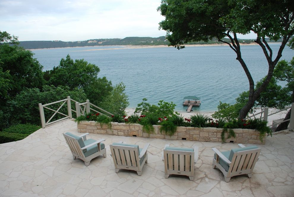 Lake Hartwell Lake Level with Traditional Patio Also Austin Patio Beach Casual Patio Kathryn Paige Lake House Lake Travis Lake View Patio Stone Patio Stone Wall Streamline Home Staging