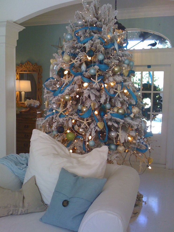 Lowes Artificial Christmas Trees with  Entry  and Florida Beach Style Christmas White Floc