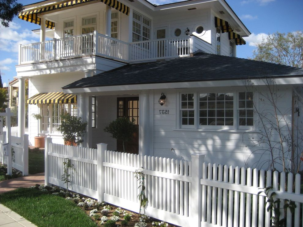 Lowes Vallejo with Traditional Exterior Also Balcony Beach House Column French Window Front Entrance Picket Fence Siding White Cottage