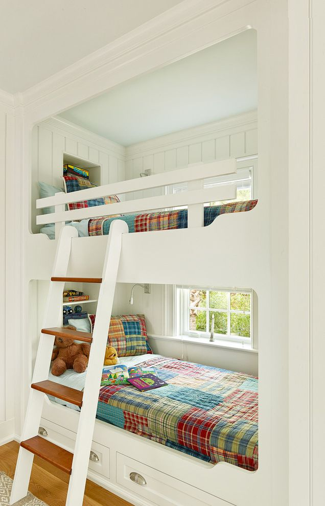 Mercury Facts for Kids   Transitional Kids Also Built in Bunk Beds Built in Bunk Beds Kids Bunk Bed with Storage Bunk Room Kiawah Island Kids Room Ladder Nook Plaid Bedding Transitional White Bunk Beds White Wood Panel Wall