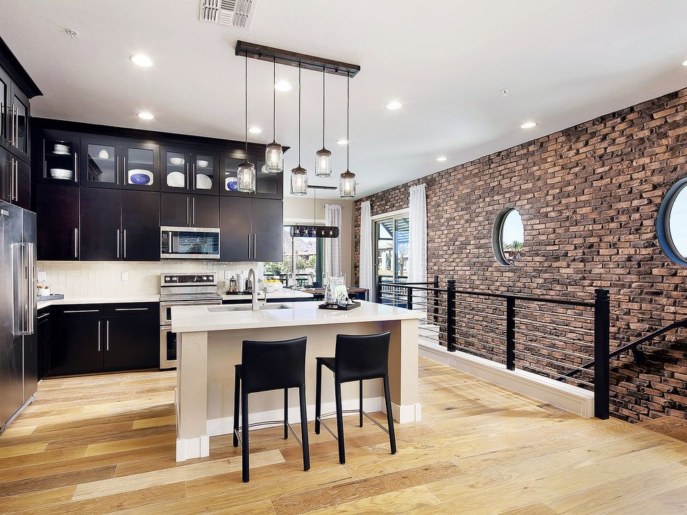 $keyword Modern Clinker Brick Kitchen - Coronado Stone Products Thin Brick Series $style In $location