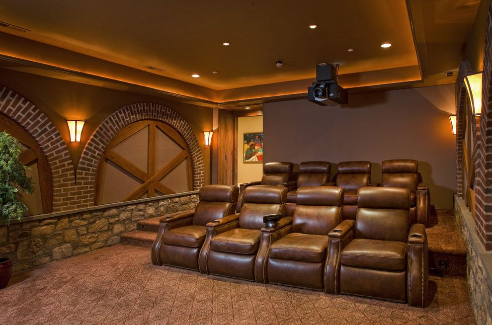 Old Mill Theater with Traditional Home Theater Also Traditional