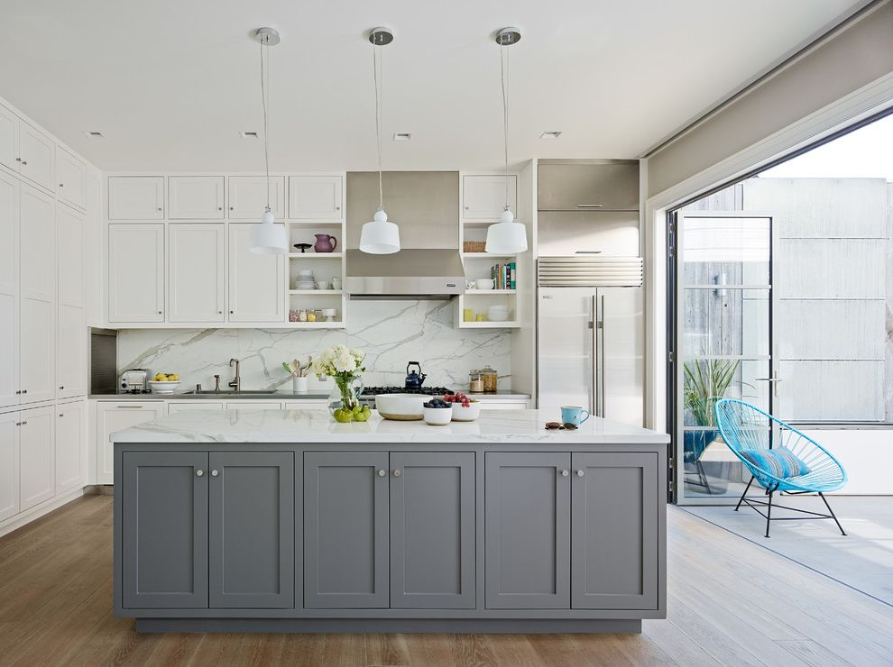Pioneer Valley Oil   Transitional Kitchen Also Folding Glass Doors Indoor Outdoor Patio Pendant Lighting Recessed Lighting Storage Island