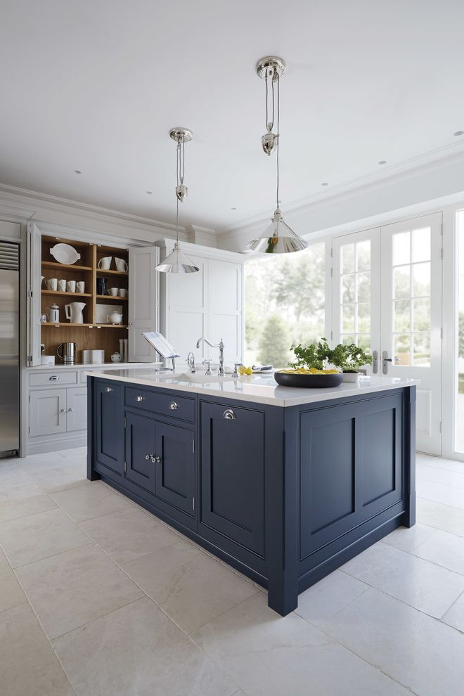 $keyword Luxury Blue Painted Kitchen $style In $location