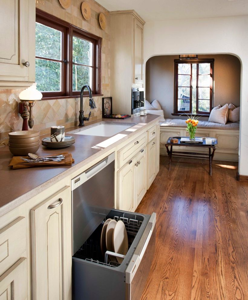 Quiet Dishwashers with Mediterranean Kitchen Also 1927 Bench Canyon Home Historic Designation Historic Renovation Historic Restoration Historical Landmark Mission Style Nook Spanish Architecture Spanish Revival Architecture
