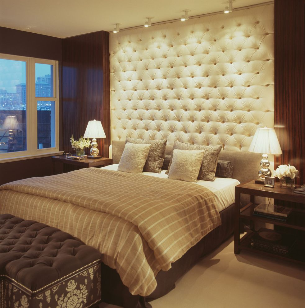 Ritz Carlton Baltimore   Contemporary Bedroom Also Bedroom Bedside Tables Contemporary Lighting Monopoint Lights Tufted Bench Tufted Headboard Tufted Wall