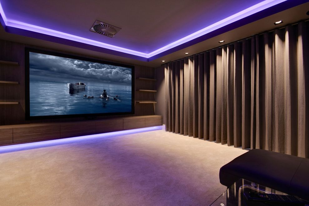 Riverside Theater Reno   Modern Spaces Also Artcoustic Award Winning Media Room Control4 Home Automation Home Cinema Jvc Projector Scene Lighting Screen Excellence Speakers