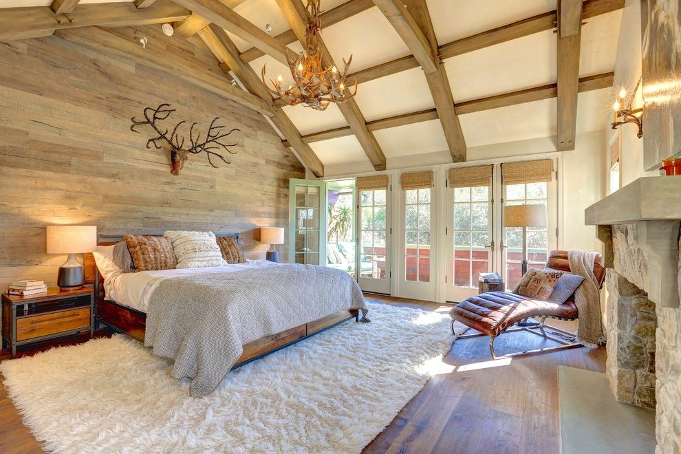 Ross Modesto Ca with Traditional Bedroom Also Antler Deer Light Beam Ceiling Beamed Ceiling Chaise Lounge Chairs Contemporary Contemporary Design French Door Rustic Wood Traditional Traditional Design Wood Beams