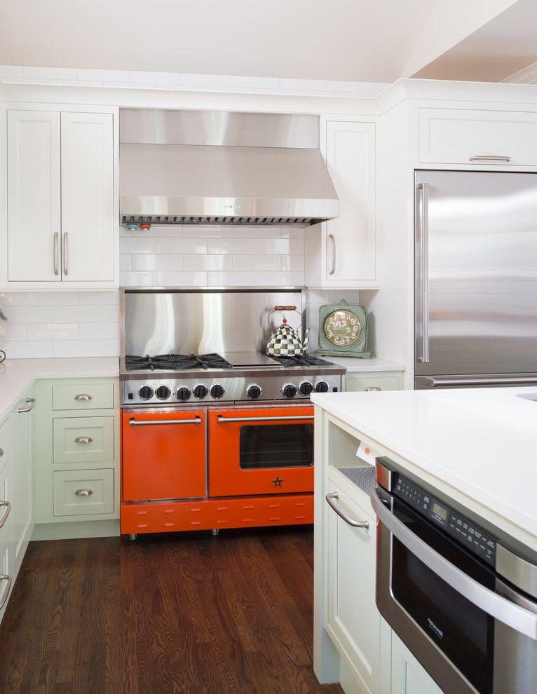 Samsung Stoves with Transitional Kitchen  and Blue Star Range Caeasarstone Color Fox Lights Kitchen Orange Quartz Range Sub Zero White Cabinets