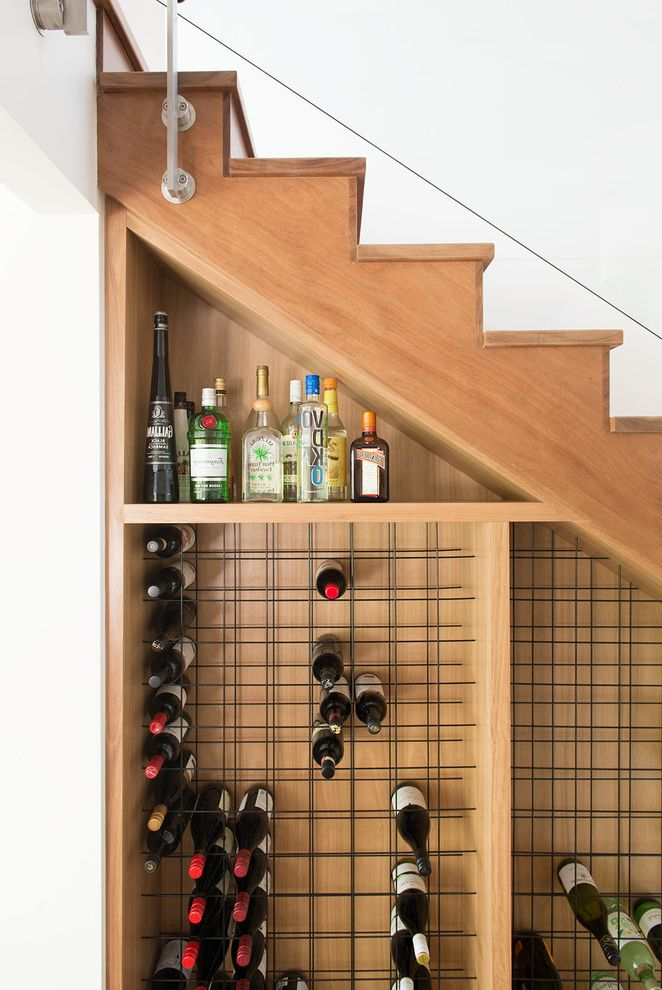 Small Metal Wine Rack   Contemporary Wine Cellar Also Accessories Art Clever Wine Storage Contemporary Furniture Small Space Solutions Under Stairs Wine Storage Wine Storage