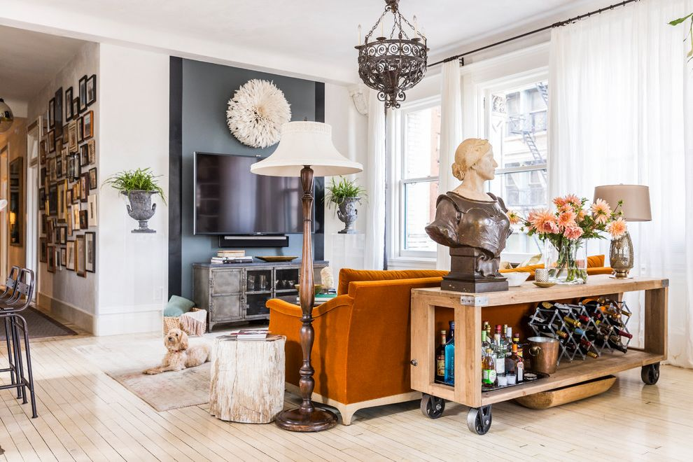 Unruh Furniture with Eclectic Living Room Also Bust Sculpture Collection Comfortable Comfy Cosy Egypt Style Gallery Wall Indian Selections Japanese Juju Hat Livable Pillow Design Rolling Console Table Stump Side Table