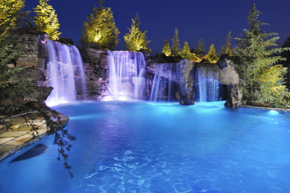 Waterfalls in Oklahoma   Rustic Pool Also Dream House Dream Pools Grottos Landscape Design Luxury Pool Man Cave Outdoor Design Outdoor Entertaining Outdoor Living Pool Designs Swimming Pool Waterfalls