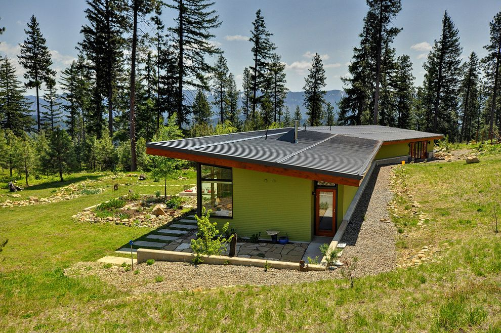 What is a Berm   Modern Exterior  and Landscape Roof View