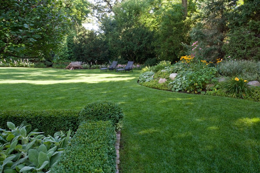What is a Berm   Traditional Landscape Also Flowerbed Flowers Hedge Lawn Plants Tree