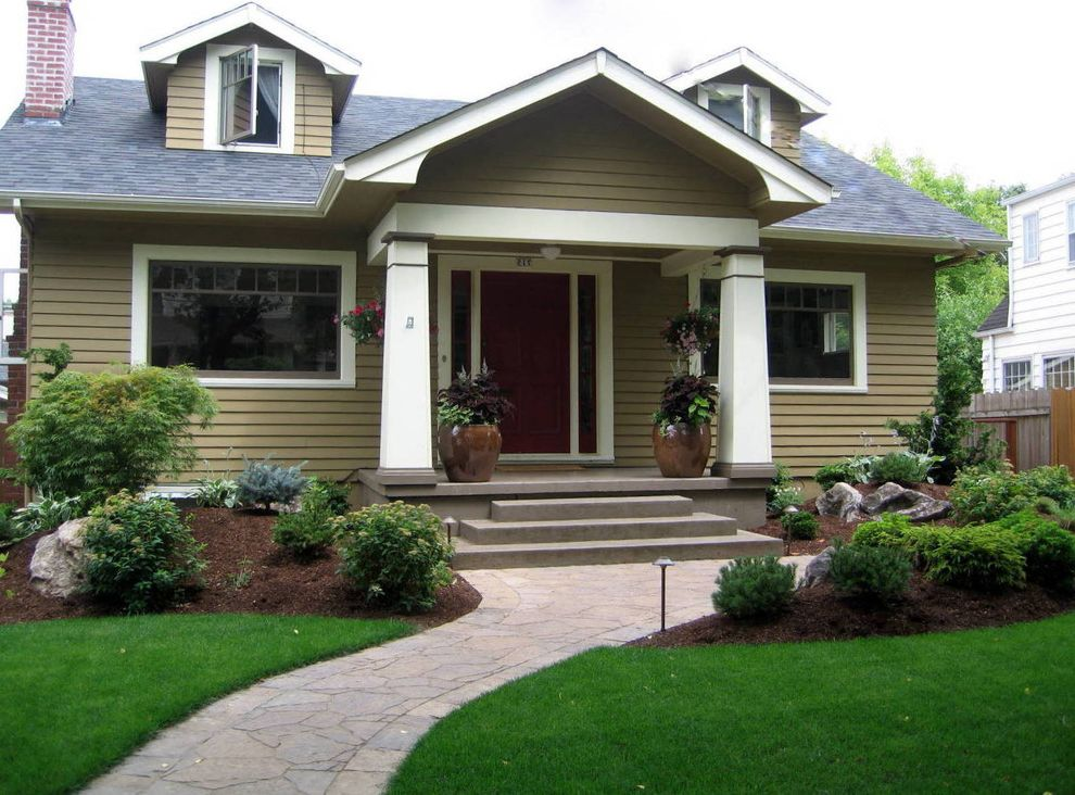 What is a Berm with Craftsman Landscape Also Berms Bungalow Craftsman Front Yard Garden Landscape Path Walkway