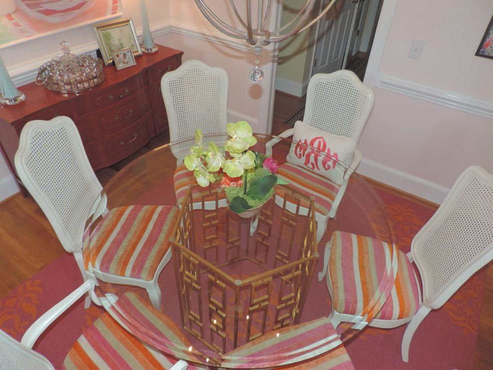 Worldsaway with Transitional Dining Room Also Glass Top Table Pink and Orange Pink Dining Room Worlds Away Table