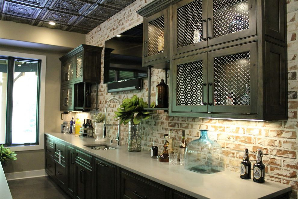 Bartender Supplies with Traditional Spaces Also Bar Sinks Classic Design Concrete Polished Floors Custom Cabinetry Entertaining Home Mouser Cabinetry Ornate Details Quartz Traditional Design Under Cabinet Lighting
