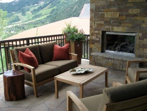 BJ's Furniture   Contemporary Patio Also Deck Mountain Contemporary Mountain Home Outdoor Chairs Outdoor Fireplaces Outdoor Furniture Outdoor Living Outdoor Love Seats Stone Flooring