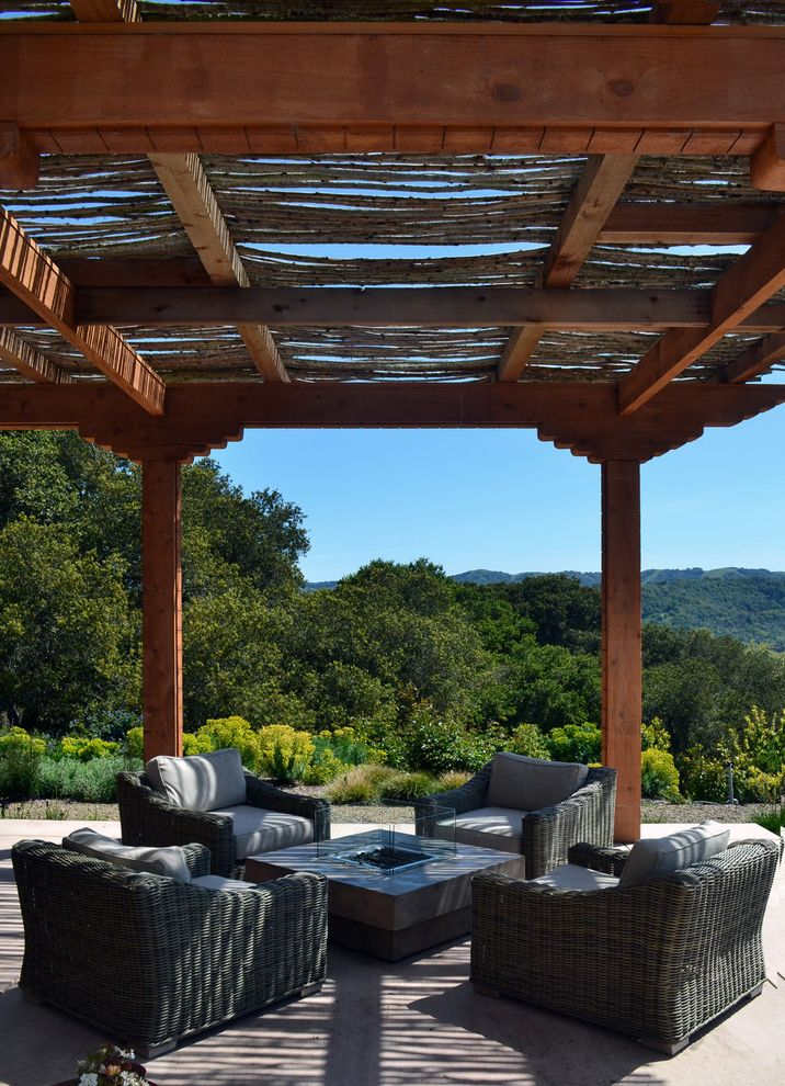BJ's Furniture with Modern Patio  and Covered Patio Euphorbia Hillside Mass Plantings Outdoor Cushions Outdoor Firepit Patio Furniture Pergola View Wicker Furniture Woven