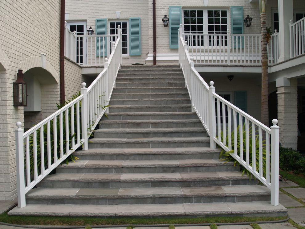 Blue Max Materials   Contemporary Staircase Also Blue Ice Flagstone Oakville Stone