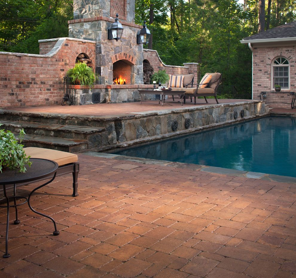 Blue Max Materials   Traditional Pool  and Brick Pavers Stone