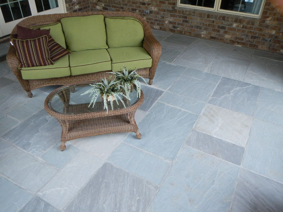 Blue Max Materials with Contemporary Patio Also Blue Ice Flagstone Oakville Stone