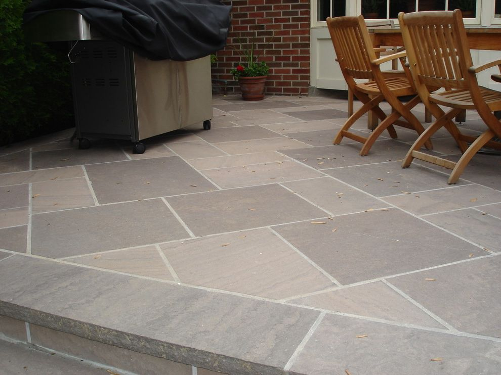 Blue Max Materials with Contemporary Patio Also Brown Wave Flagstone Oakville Stone