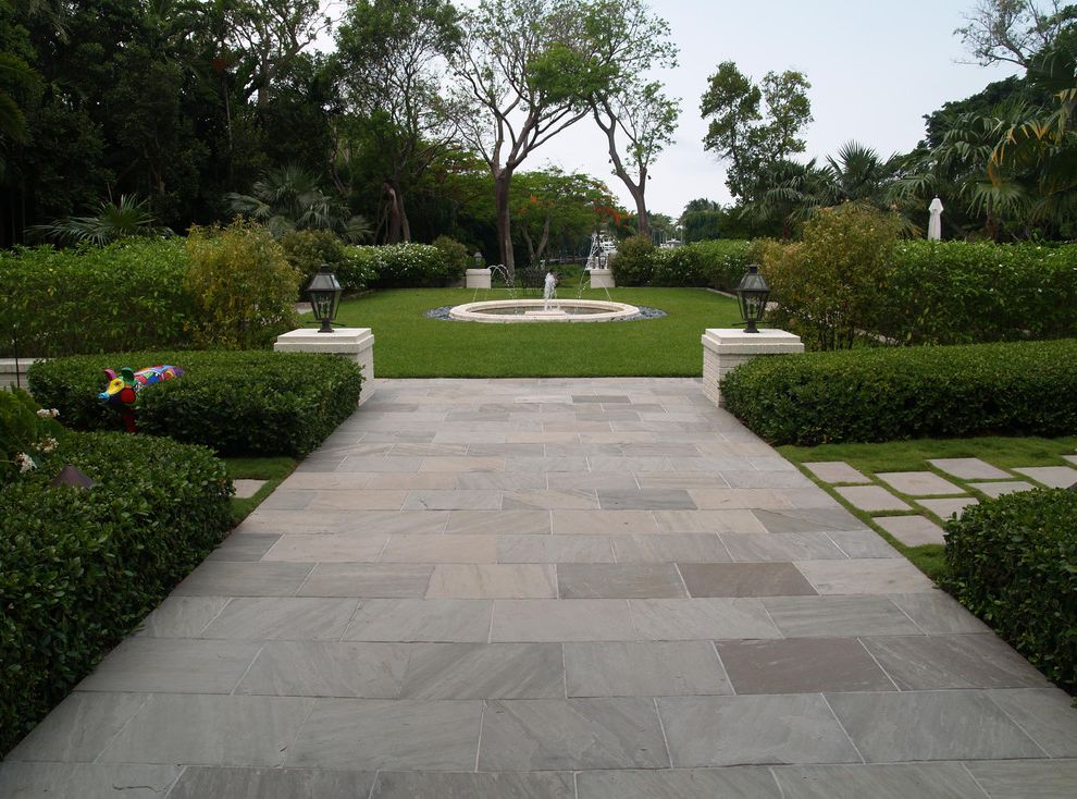 Blue Max Materials with Contemporary Patio  and Blue Ice Flagstone Oakville Stone
